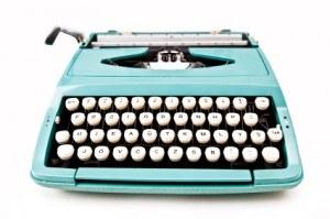 aqua vintage typewriter
