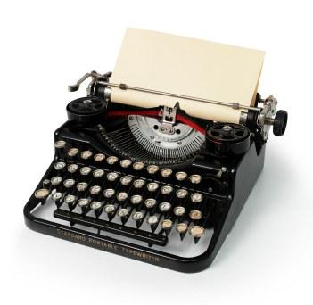 vintage typewriter in black