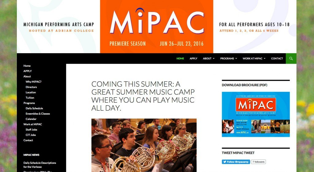 Michigan Performing Arts Camp (MIPAC)