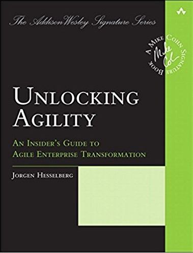 Unlocking Agility book cover, by Jorgen Hesselberg